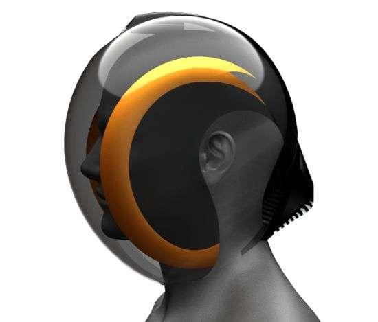 Futuristická cyklo helma