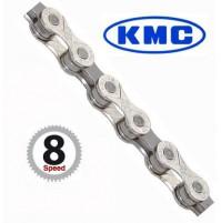 KMC Reťaz X 8 strieborno-šedá 114 článkov, X-8-93 vrátane spojky