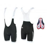 Nohavice B40 s trakmi a vložkou, čierne, krátke