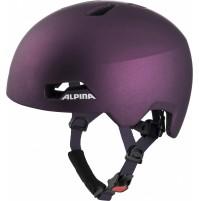 ALPINA Cyklistická prilba HACKNEY tmavá fialová