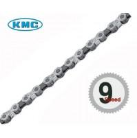 KMC Reťaz X 9 strieborno-sivá, 114 článkov