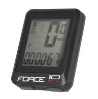 Cyklocomputer FORCE WLS 10 funkcií
