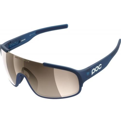 POC Cyklistické okuliare Crave Clarity Lead Blue-Brown/Silver Mirror