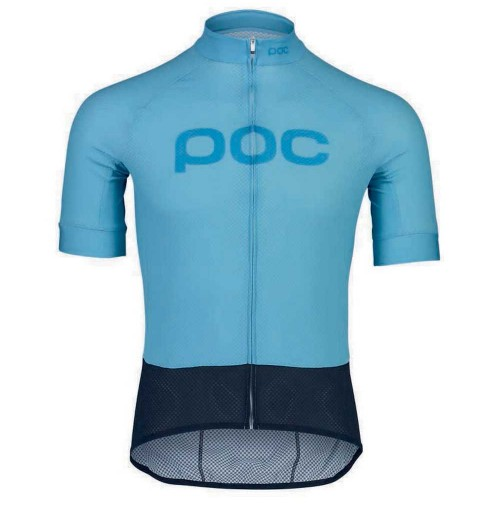 POC Cyklistický dres Esential Road LogoJersey LT Basalt Blue