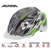 Cyklistická prilba ALPINA Rocky titánovo-zeleno-biela