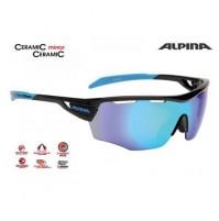 Cyklistické okuliare Alpina TRI-SCRAY SHIELD čierno-cyan