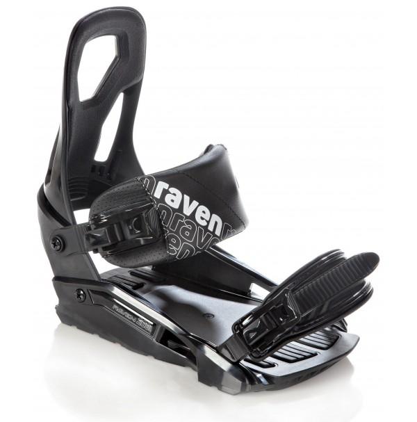 Snowboardové viazanie Raven s200 Black