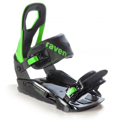 SNOWBOARDOVÉ VIAZANIE RAVEN S200 Green