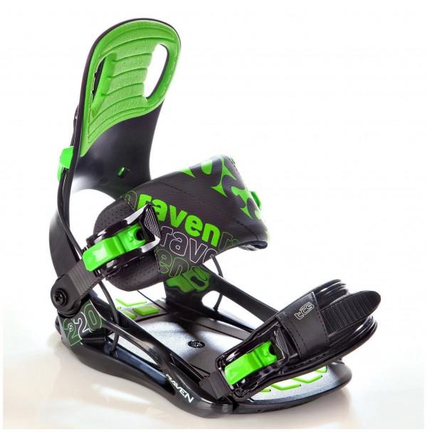 SNOWBOARDOVÉ VIAZANIE RAVEN S220 Green