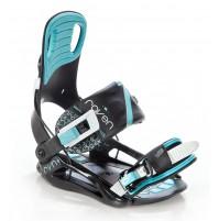 Snowboardové viazanie Raven Starlet Black/Mint