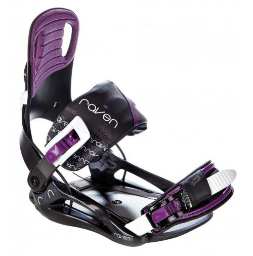 Snowboardové viazanie Raven Starlet Black/Violet