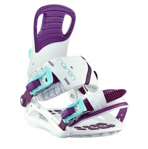 Snowboardové viazanie Raven Starlet White/Blue/Violet