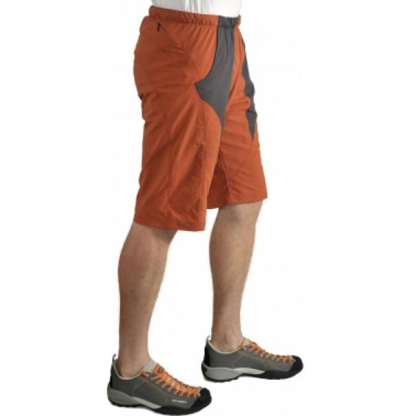 Pánske bermudy BLYŠŤ - oranžovo-sivá