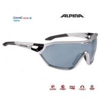 Okuliare Alpina S-WAY CM+ strieborno mat-čierne