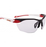 Cyklistické okuliare Alpina TWIST FIVE HR VL+ čierno- červeno-biele