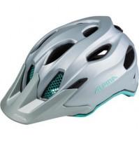 Cyklistická prilba ALPINA Carapax JR. oceľovo sivo-smaragdová