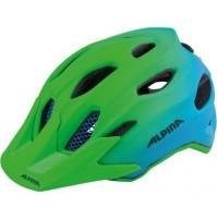 Cyklistická prilba ALPINA Carapax JR. Flash zeleno-modrá
