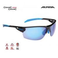 Cyklistické okuliare Alpina TRI-SCRAY čierno-cyan