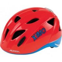 Cyklistická prilba ALPINA Ximo Flash neónovo červená - modrá