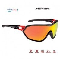 Okuliare Alpina S-WAY CM+ čierno-červené