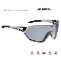 Okuliare Alpina S-WAY QVM+ tmavostrieborno mat-čierne