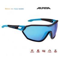 Okuliare Alpina S-WAY VLM+ čierna mat-cyan