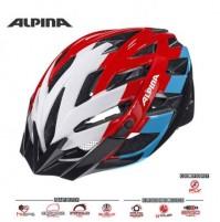 Cyklistická prilba ALPINA PANOMA bielo-červeno-modrá