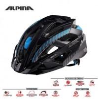 Cyklistická prilba ALPINA Valparola XC čierno-titan-modrá