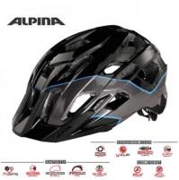 Cyklistická prilba ALPINA Yedon čierno-titan-modrá