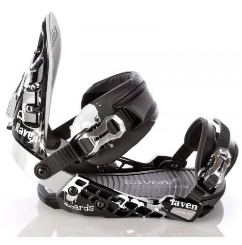 SNOWBOARDOVÉ VIAZANIE RAVEN BLACK S600 SM 2012