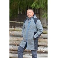 PÁNSKY KABÁT BENESPORT - RYS - SIVÝ