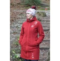 Dámsky kabát BENESPORT -  Pekelník červený