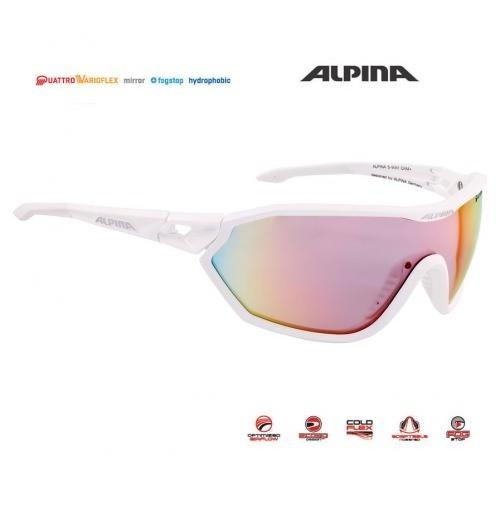 Okuliare Alpina S-WAY QVM+ biele matné