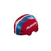 Cyklistická prilba Alpina PARK jr. červeno-modro-biela