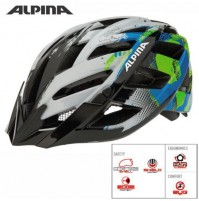 Cyklistická prilba ALPINA PANOMA biela-cyan-zelená
