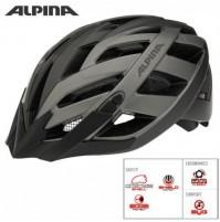 Cyklistická prilba ALPINA PANOMA L.E tmavostrieborno-titánová matná