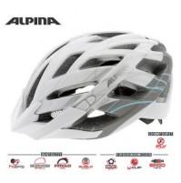 Cyklistická prilba ALPINA PANOMA L.E bielo-strieborno-modrá