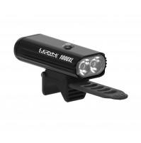 Lezyne predné LED svetlo LITE DRIVE 1000XL, čierne lesklé