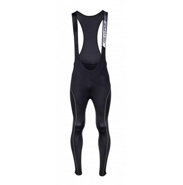 FORCE nohavice REFLEX LINE s trakmi bez vložky, čierne