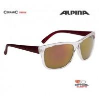 ALPINA Okuliare HEINY transparentné-červené sklá CERAMIC mirror červené S3