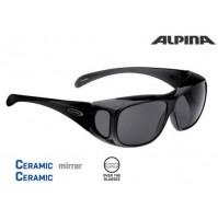 ALPINA Cyklistické okuliare OVERVIEW čierne transparent vrchné okuliare, na dioptrické