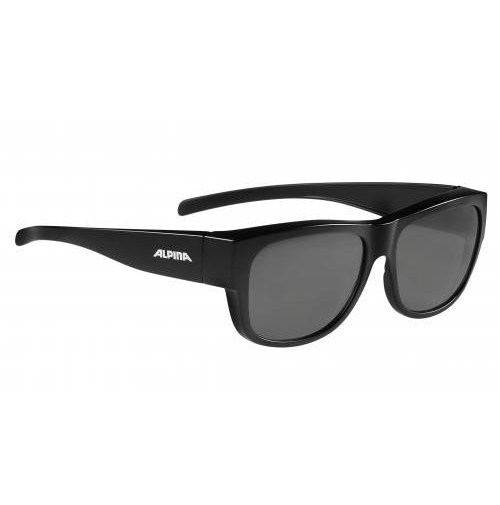 ALPINA Cyklistické okuliare OVERVIEW II P čierne matné, Polarizačné sklá