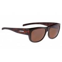 ALPINA Cyklistické okuliare OVERVIEW II P havana matné Polarizačné sklá: hnedé S3