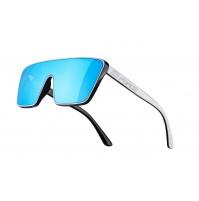FORCE okuliare SCOPE, čierno-biele, modré zrkadlové sklá
