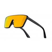 FORCE okuliare SCOPE, čierne matno-lesklé, červené zrkadlové sklá