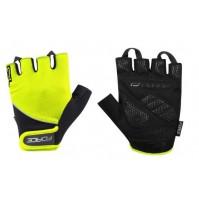 FORCE rukavice GEL 17, fluo-čierne
