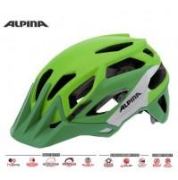 ALPINA Cyklistická prilba Garbanzo zeleno-stieborno-biela veľ : M, green-silver-white