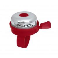 FORCE zvonček KLASIK Fe / plast 22,2mm, červený