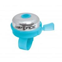 FORCE zvonček KLASIK Fe / plast 22,2mm, modrý