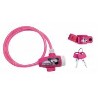 FORCE zámok detský s držiakom 80cm / 8mm, ružový